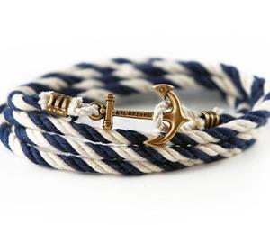bracelet, anchor, and white image