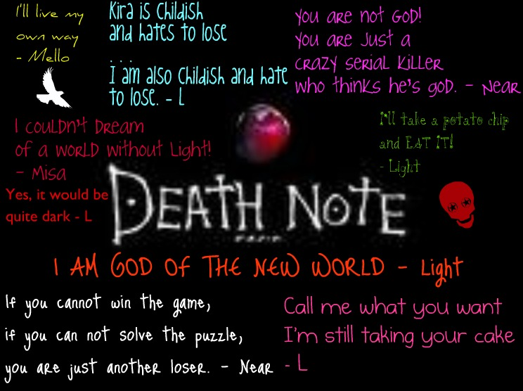 Quotes Death Stunning Death Note Quotes Sharedelise On We Heart It