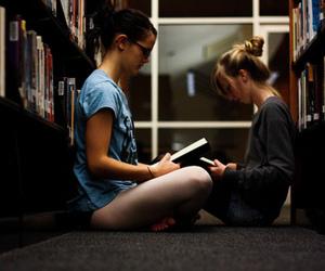 books, bookstore, and girls image