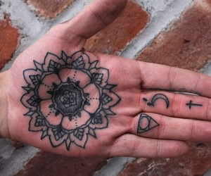 tattoo and hand image