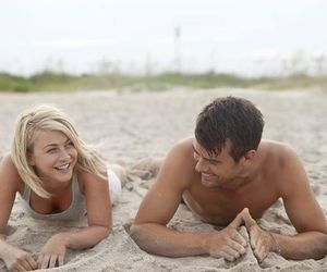 beach, safe haven, and love image