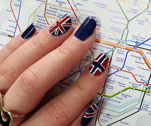 nails, nailart, and england image