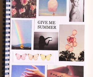 summer, book, and flowers image