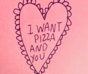 heart, pizza, and quote image