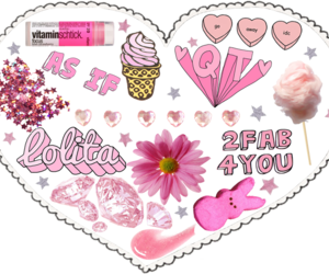 heart, transparent background, and lolita image
