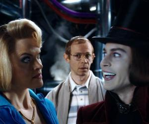 johnny depp, Willy Wonka, and missi pyle image