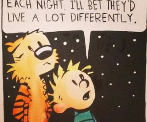 stars, quotes, and calvin and hobbes image