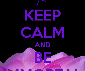 Immortal, keep calm, and quote image