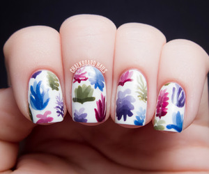 colorful, succulents, and pretty nails image