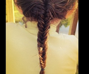 braid, hair, and casual image