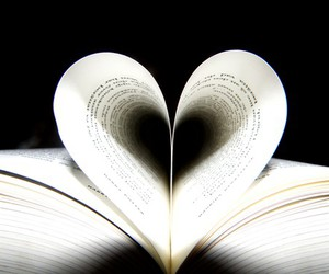 book, heart, and books image