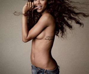 black, pretty, and topless image