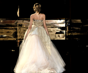 dress, gown, and runway image