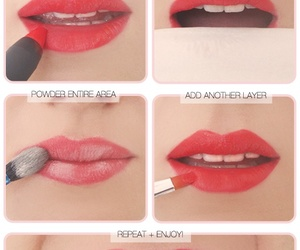 lips, lipstick, and red image