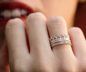 ring, crown, and rings image