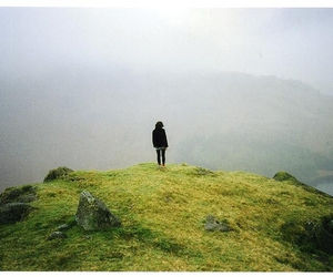 girl, alone, and fog image