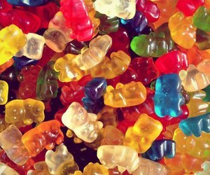 food, candy, and bear image