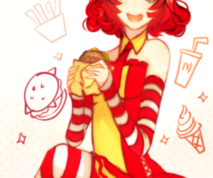 anime, girl, and McDonalds image