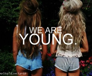 girl, young, and hair image