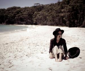 beach, hair, and fashion image