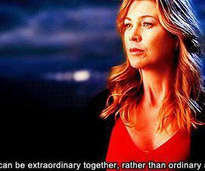 derek, meredith, and quote image