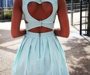 dress, heart, and blue image