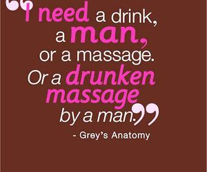 man, drink, and massage image