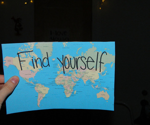 quote, map, and world image