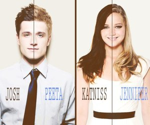 katniss, peeta, and Jennifer Lawrence image