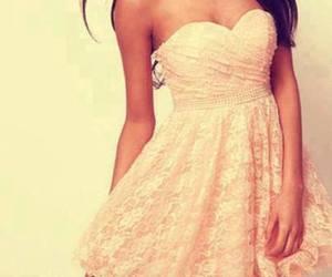 beautiful, brown hair, and dresses image