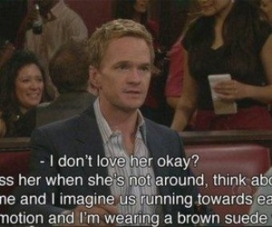 how i met your mother, love, and barney image