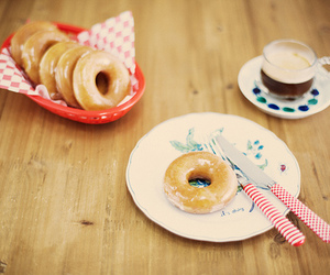 donuts, food, and breakfast image