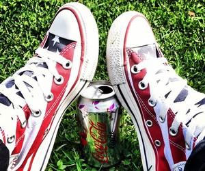 america, chucks, and coca cola image