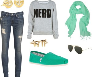 combination, green, and Polyvore image