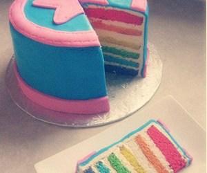 cake, rainbow, and star image