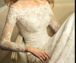 bride, dresses, and lace image
