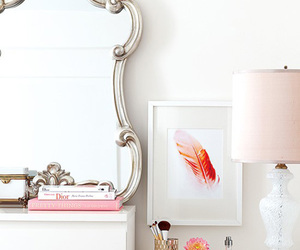 mirror, white, and room image
