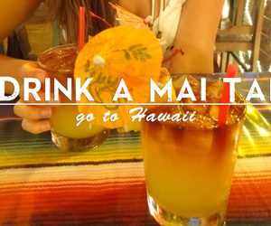 cocktail, drinking, and hawaii image