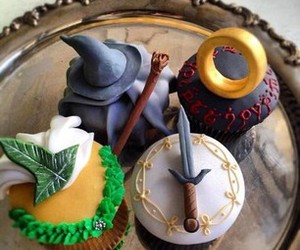 cupcake, gandalf, and lord of the rings image