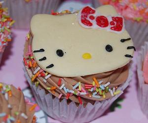 hello kitty, cupcake, and yummy image