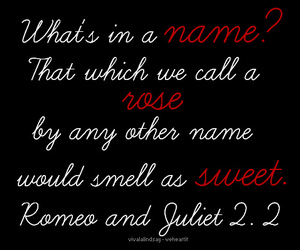quote, romeo and juliet, and rose image