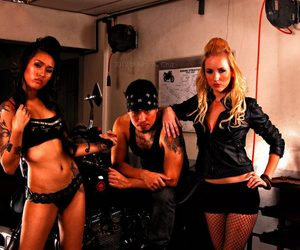 anne, models, and motorcycle image
