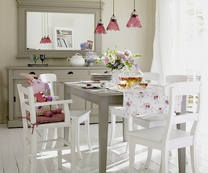 car, white, and dinning room image