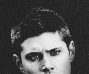 black and white, dean winchester, and eyes image