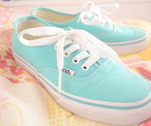 blue, vans, and love image