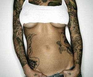 sexy and tattoo image