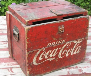 cocacola, red, and vintage image