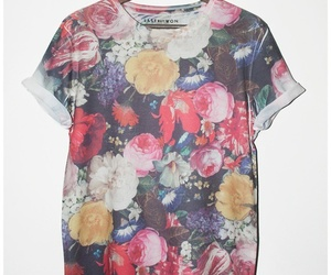fashion, flowers, and tee image