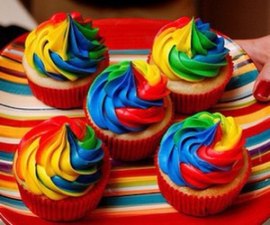 colors, cupcake, and cupcakes image