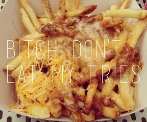 fries, bitch, and food image